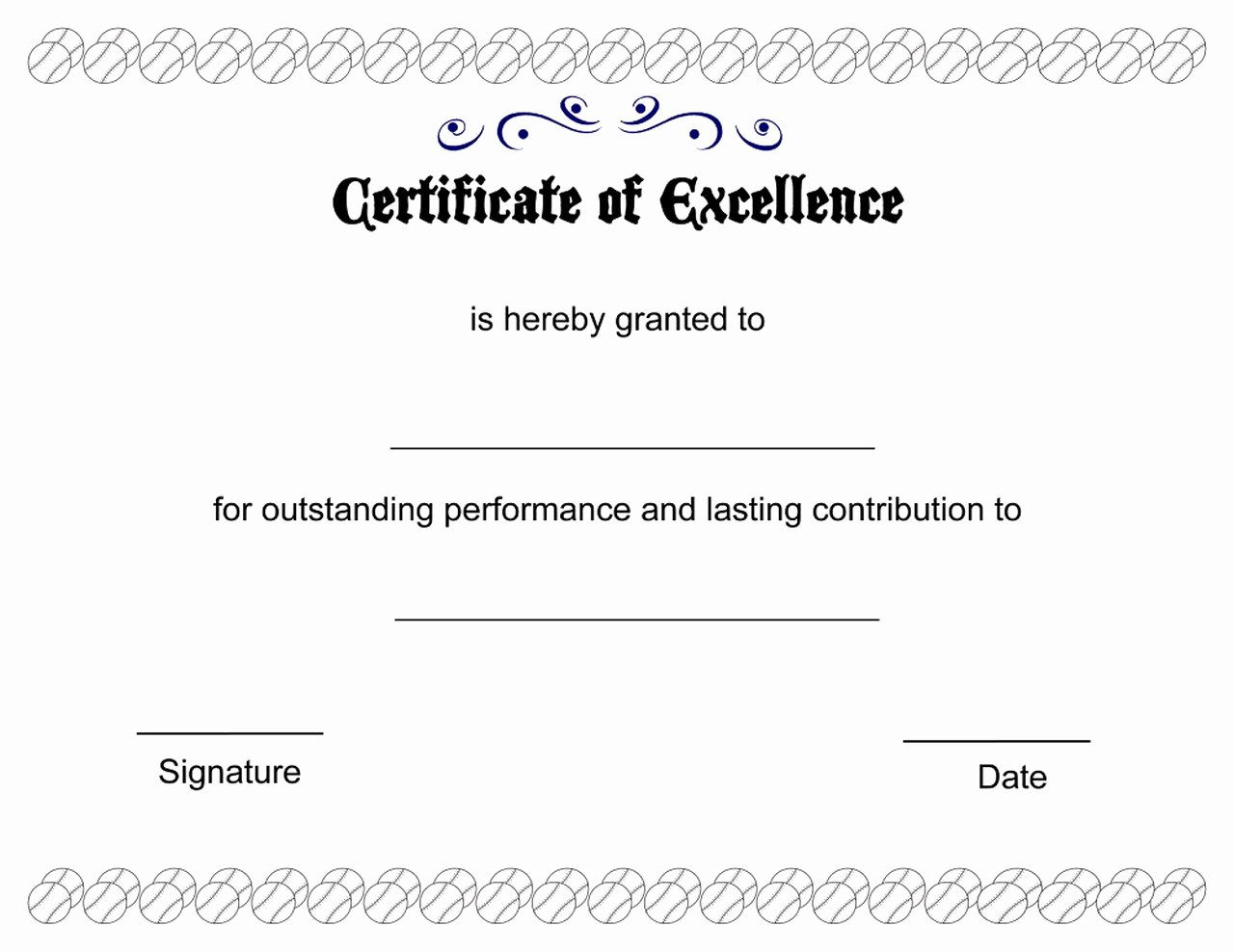 Certificate Of Excellence Template Word Awesome Certificate Of Excellence Printable Image – Learning Printable