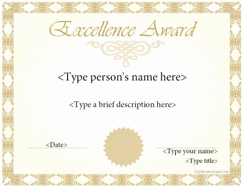 Certificate Of Excellence Template Word Beautiful Award Certificate Template 14 Download In Psd Pdf