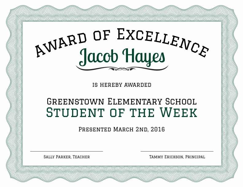 Certificate Of Excellence Template Word Beautiful formal Award Of Excellence Certificate Template