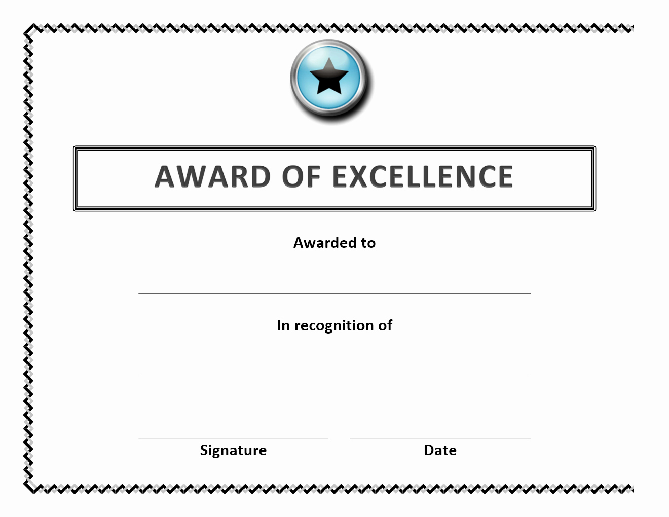 Certificate Of Excellence Template Word Unique Certificate Archives