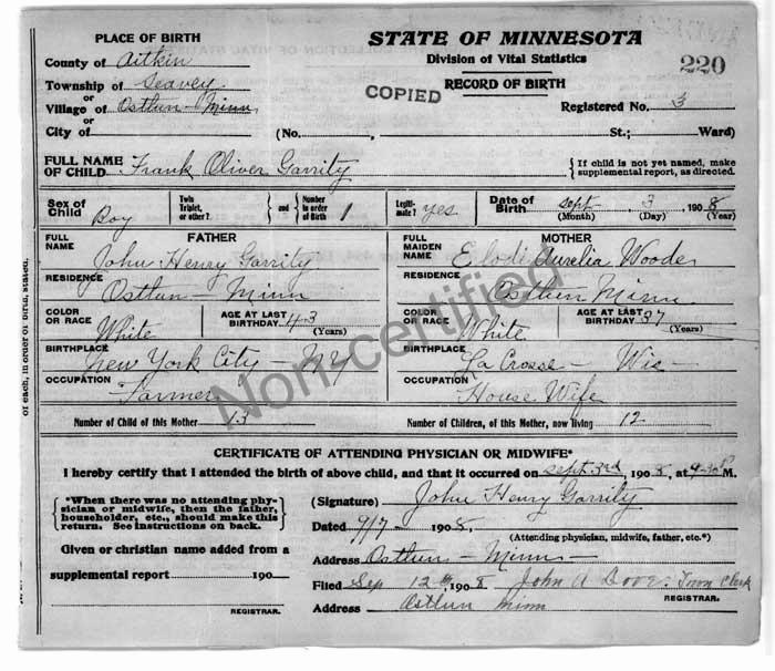 faq birth records