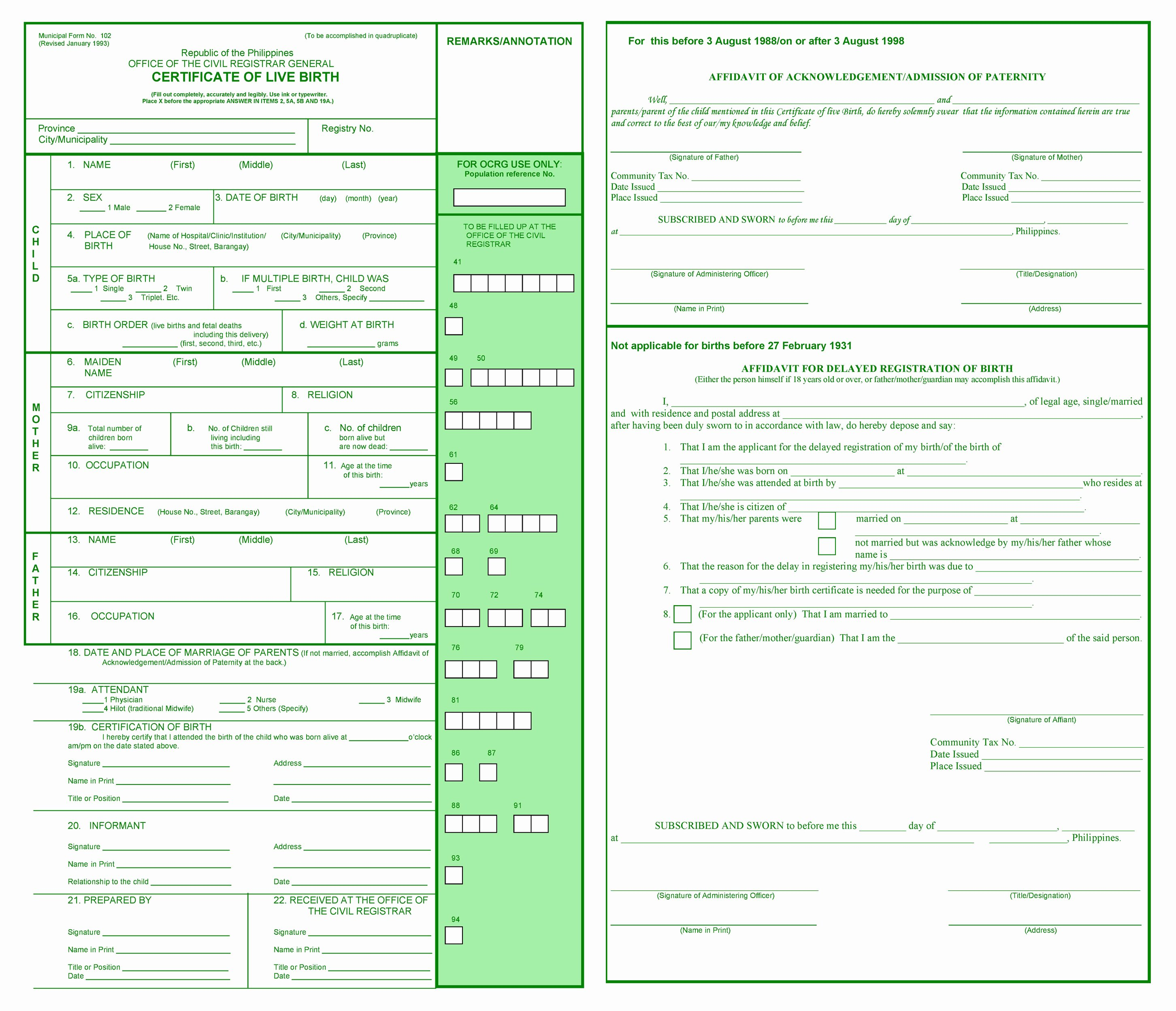 Certificate Of Live Birth Template Fresh Tips when Filling Out the Certificate Of Live Birth Part