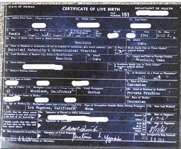 Certificate Of Live Birth Template Lovely Release Of Obama's Birth Certificate Shows Power Of