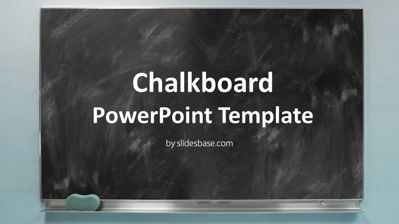 Chalkboard Powerpoint Template Free Best Of Blackboard Chalkboard Powerpoint Template