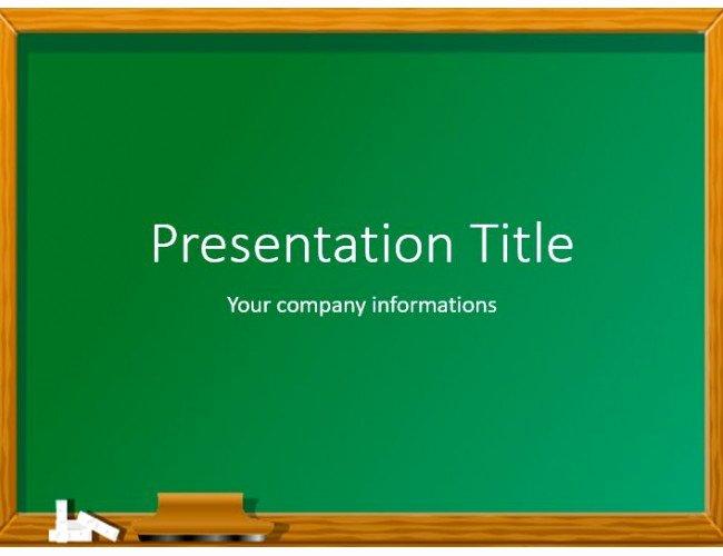Chalkboard Powerpoint Template Free Best Of Green Chalkboard Free Powerpoint Template