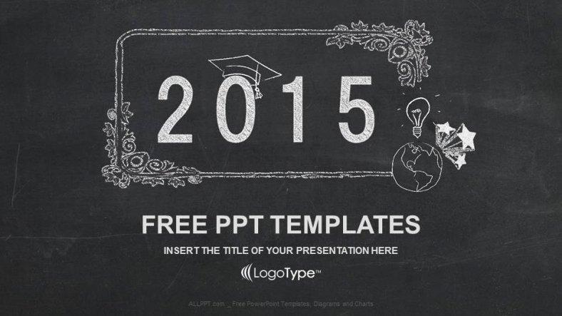 Chalkboard Powerpoint Template Free Elegant Blackboard Education Powerpoint Template