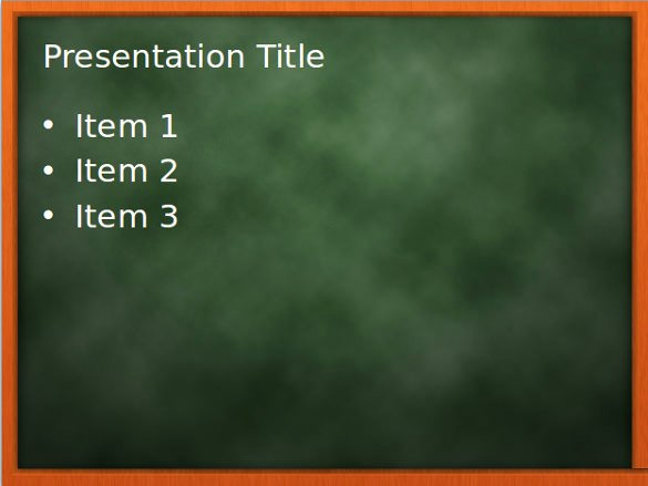 Chalkboard Powerpoint Template Free Fresh Unusual Ideas Blackboard Background Powerpoint Sweet for