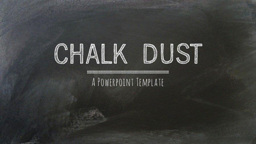 Chalkboard Powerpoint Template Free Inspirational Chalk Dust Powerpoint Presentation Template by 83munkis