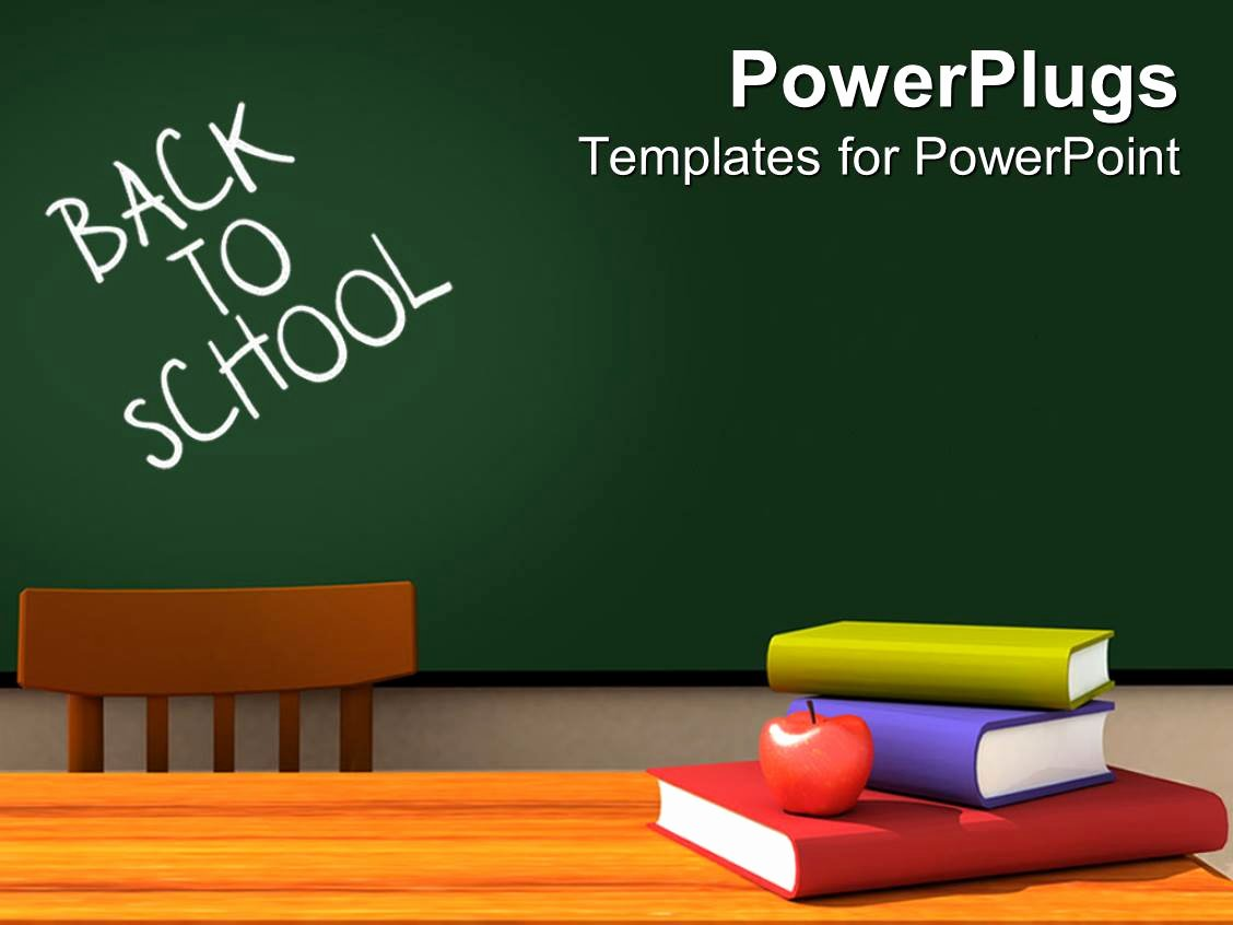 Chalkboard Powerpoint Template Free Inspirational Powerpoint Template Back to School Classroom with
