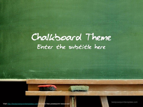 Chalkboard Powerpoint Template Free Lovely Chalkboard Template Free