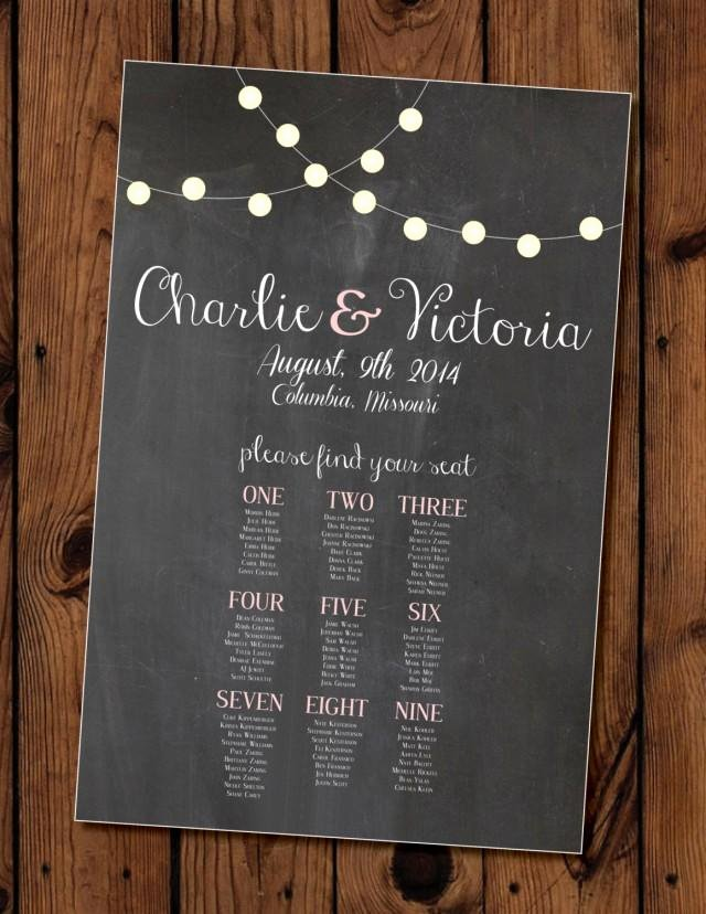 Chalkboard Wedding Seating Chart Beautiful Chalkboard Wedding Seating Chart Printable Weddbook