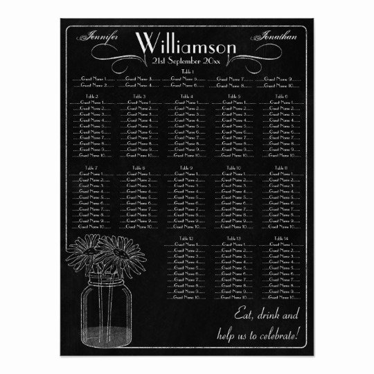 Chalkboard Wedding Seating Chart Best Of Chalkboard with Mason Jar Wedding Seating Chart