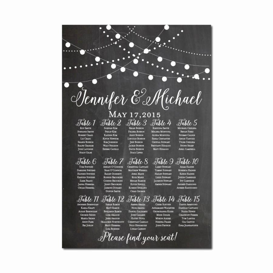 wedding seating chart chalkboard wedding string lights printable seating chart seating plan table chart printable seating sign