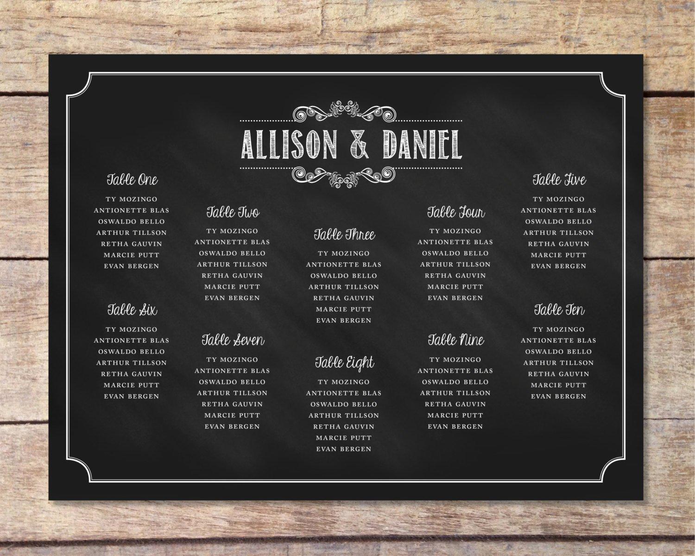 Chalkboard Wedding Seating Chart Fresh Chalkboard Wedding Seating Chart – Rustic Modern