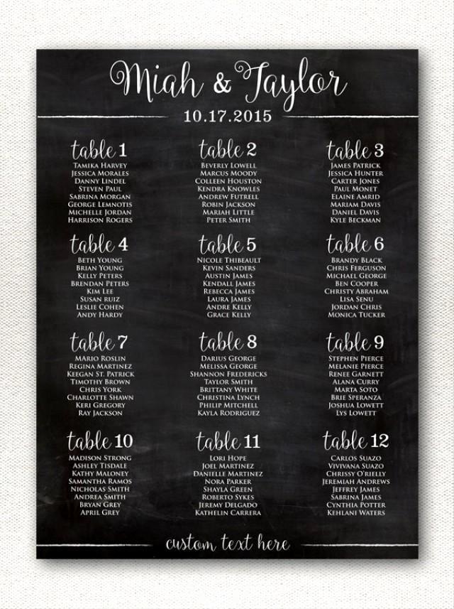Chalkboard Wedding Seating Chart Inspirational Simple & Rustic Chalkboard Style Wedding Seating Chart