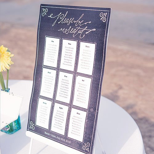 Chalkboard Wedding Seating Chart Luxury Chalkboard Print Design Personalized Seating Chart