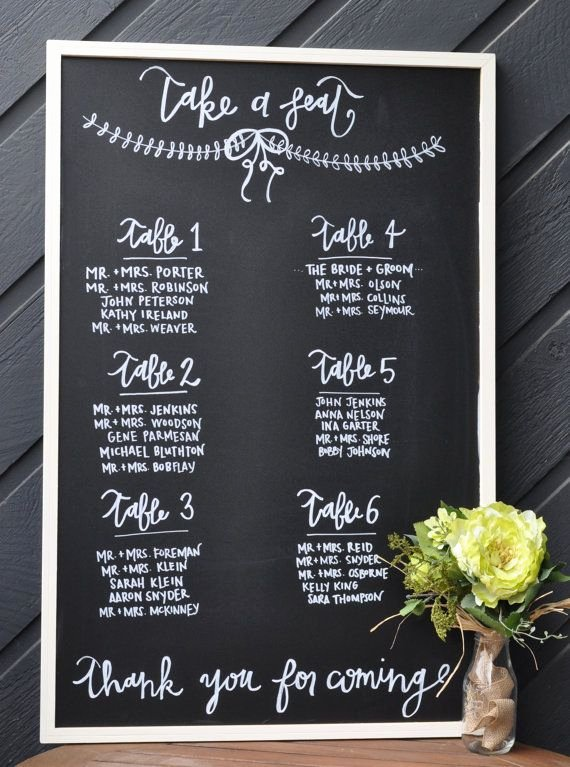 Chalkboard Wedding Seating Chart Luxury Chalkboard Wedding Seating Chart 23x35 Chalkboard