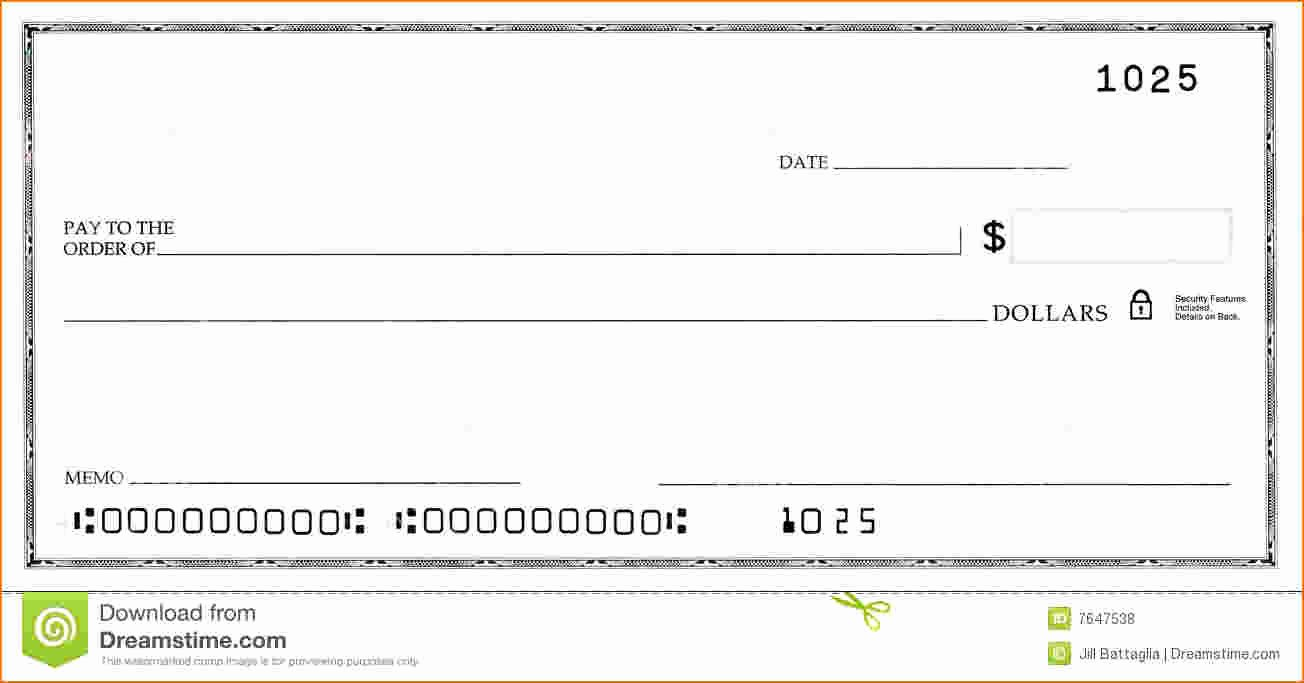 Check Template for Word Awesome Blank Business Check Template