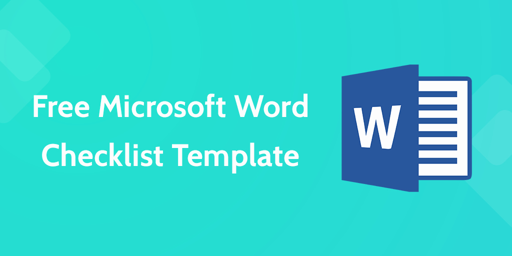 Check Template for Word Beautiful Download Your Free Microsoft Word Checklist Template