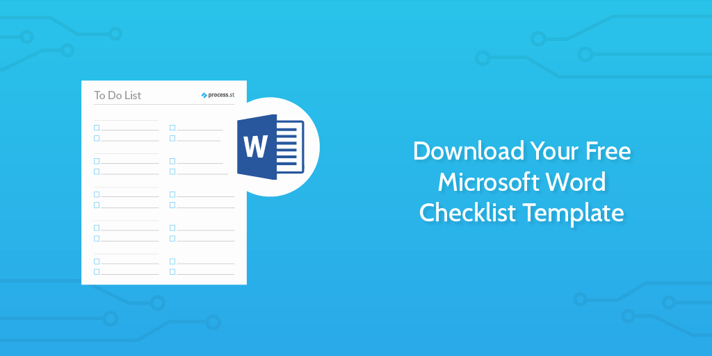 Check Template for Word Lovely Download Your Free Microsoft Word Checklist Template