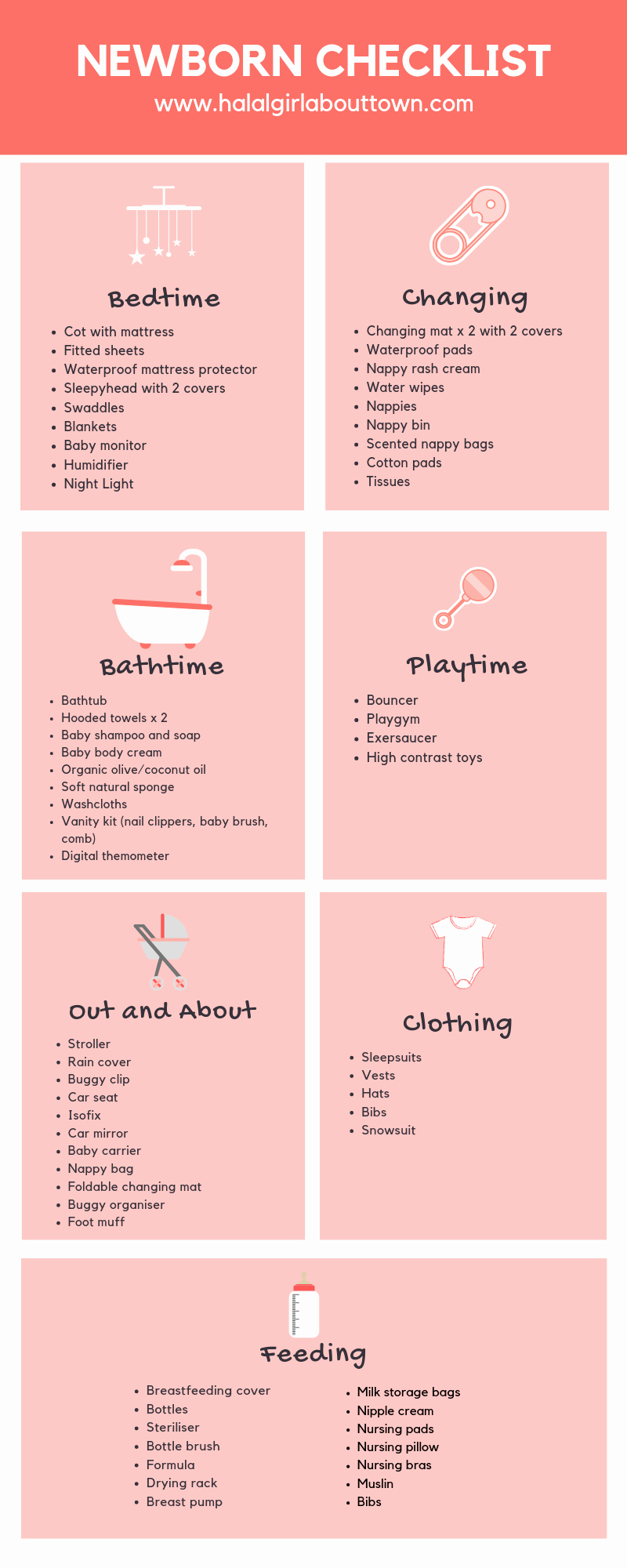 Checklist for New Baby Awesome Newborn Baby Checklist Halal Girl About town