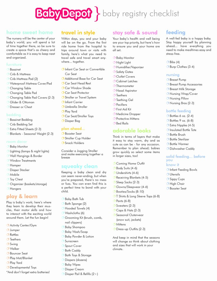 Checklist for New Baby Luxury Best 25 Baby Registry Checklist Ideas On Pinterest