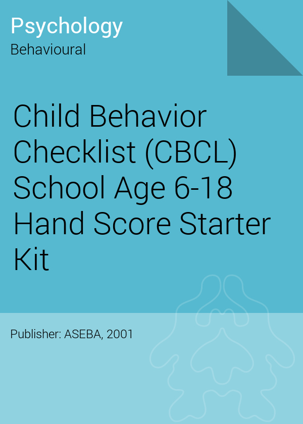 Child Behavior Checklist Scoring Free Awesome Child Behavior Checklist Cbcl School Age 6 18 Hand Score