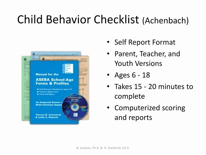 Child Behavior Checklist Scoring Free Fresh Child Behavior Checklist Scoring Free