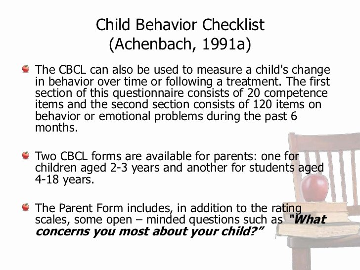 Child Behavior Checklist Scoring Free New Rating Scales