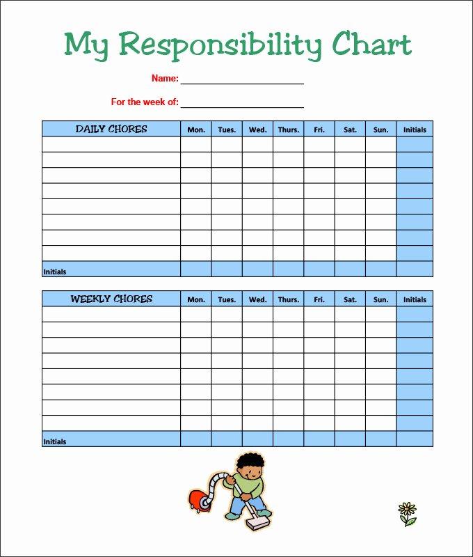 Children Chore Chart Template Beautiful Chore Chart Template Excel – Bulat