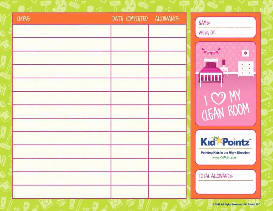Children Chore Chart Template Elegant 43 Free Chore Chart Templates for Kids Template Lab
