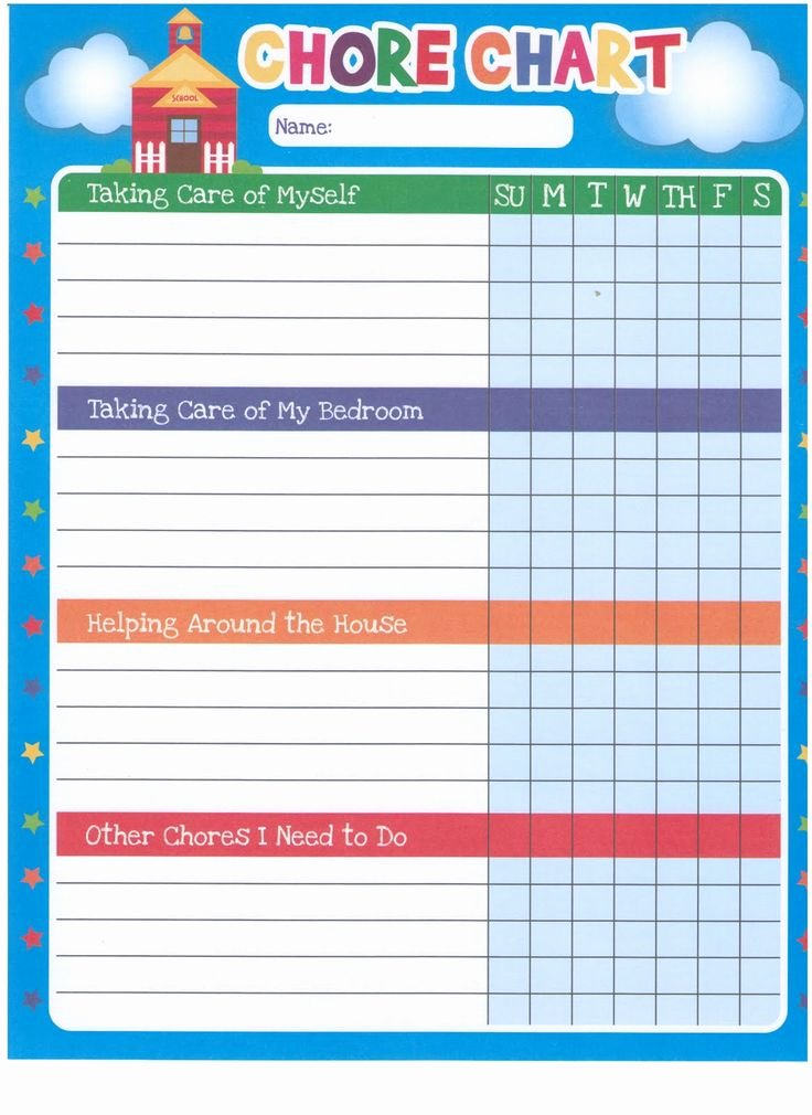 Children Chore Chart Template Unique Chore Chart Template