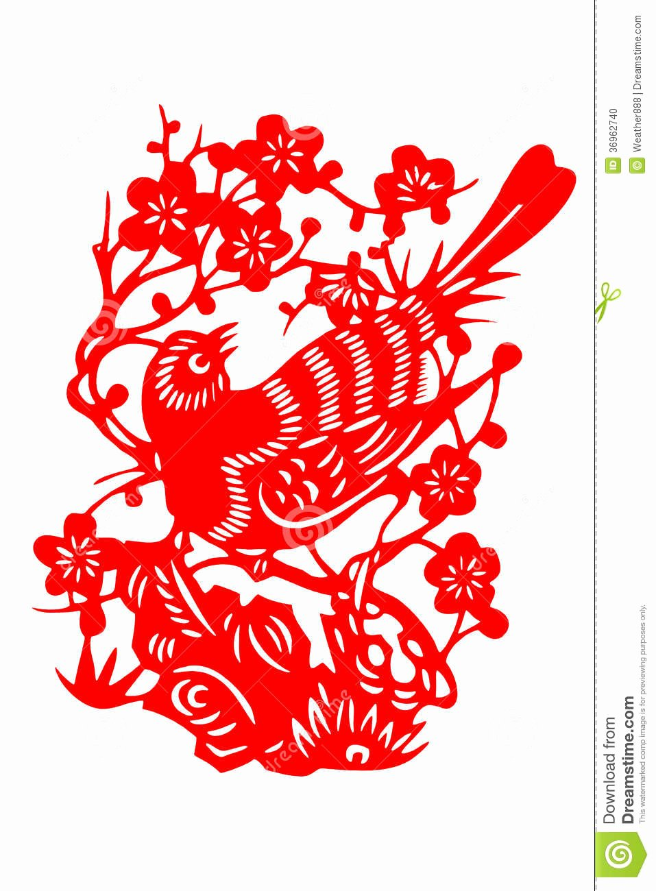 Chinese Paper Cutting Templates Luxury Chinese Paper Cut Bird Stock Image