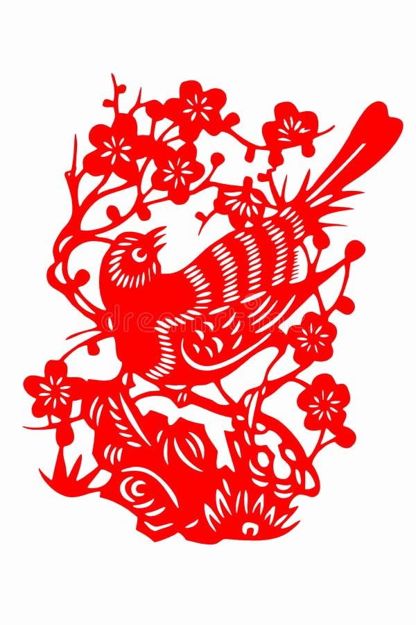 stock photo chinese paper cut bird picture scissors picture patterns often pasted lintels windows lanterns to image