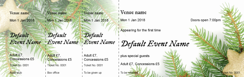 Choir Seating Chart Template Inspirational Ticket Design Christmas Fir event Tickets Template