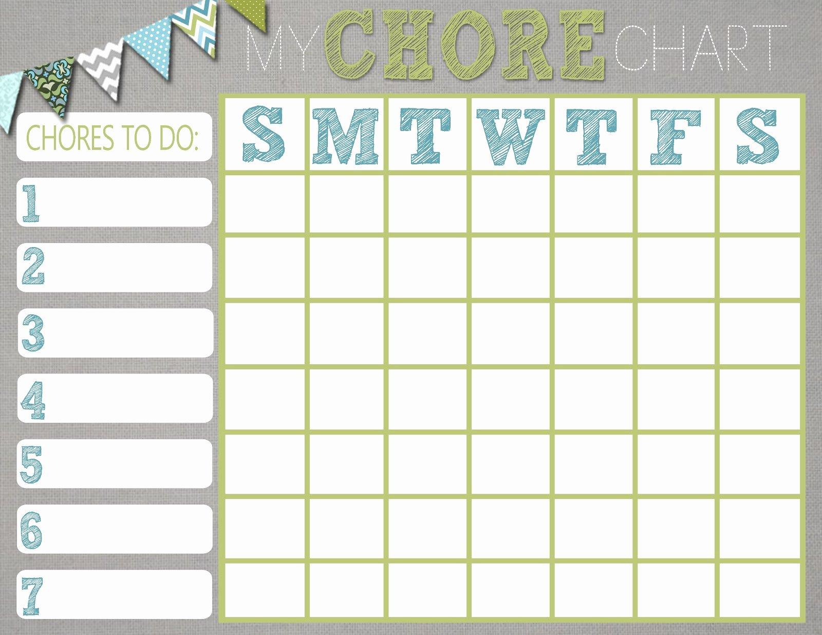 Chore Calendar for Family Elegant Chore Charts