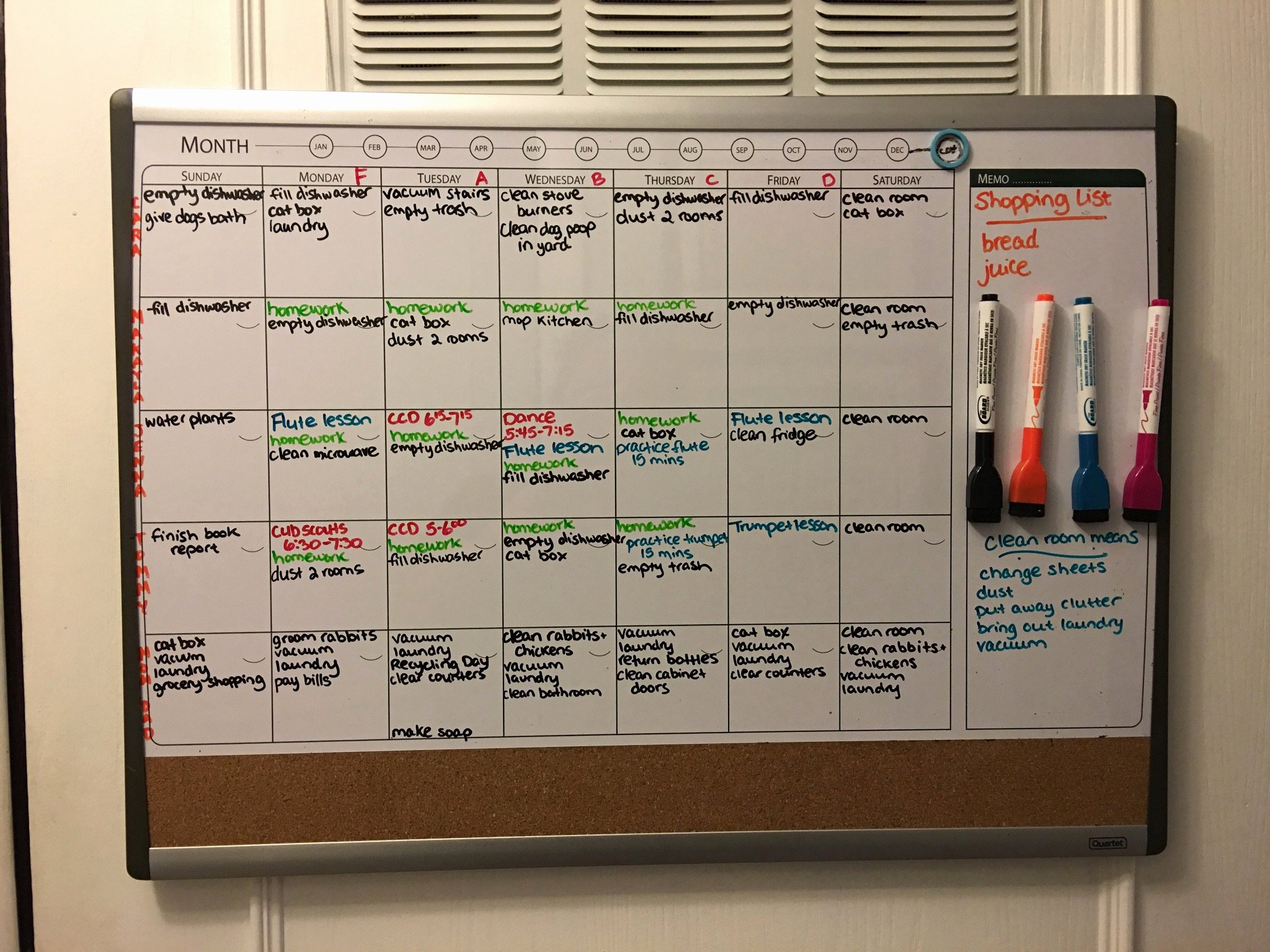 Chore Calendar for Family New Get Your Family organized Whiteboard Family Chore Chart