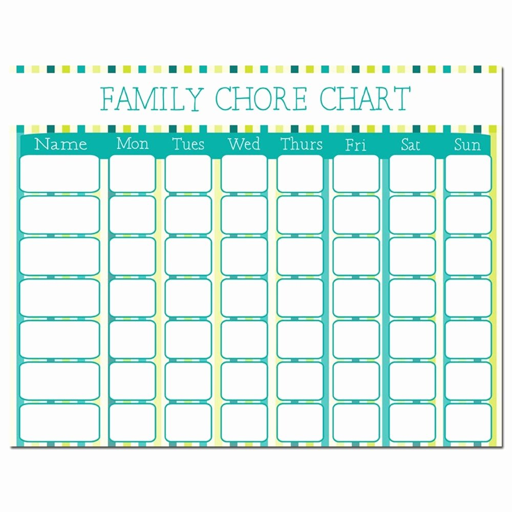 Chore Chart for Family Fresh Chore Chart Download Printable Chart Family Schedule