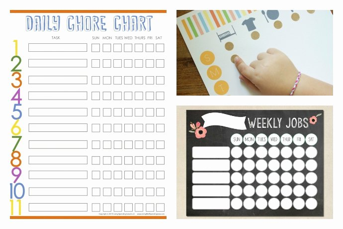 Chore Chart for Multiple Kids Lovely 10 Cool Printable Chore Charts