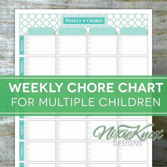 Chore Chart for Multiple Kids Lovely Chore Chart Multiple Children Printable by Perennialplanner