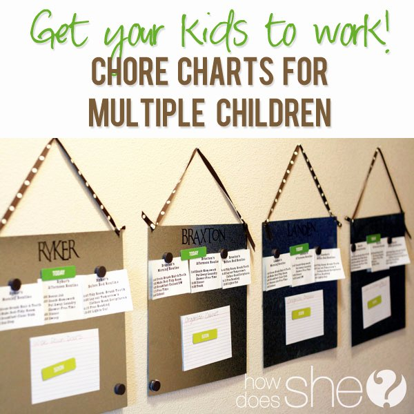 Chore Chart for Multiple Kids Luxury Chore Chart for Multiple Children