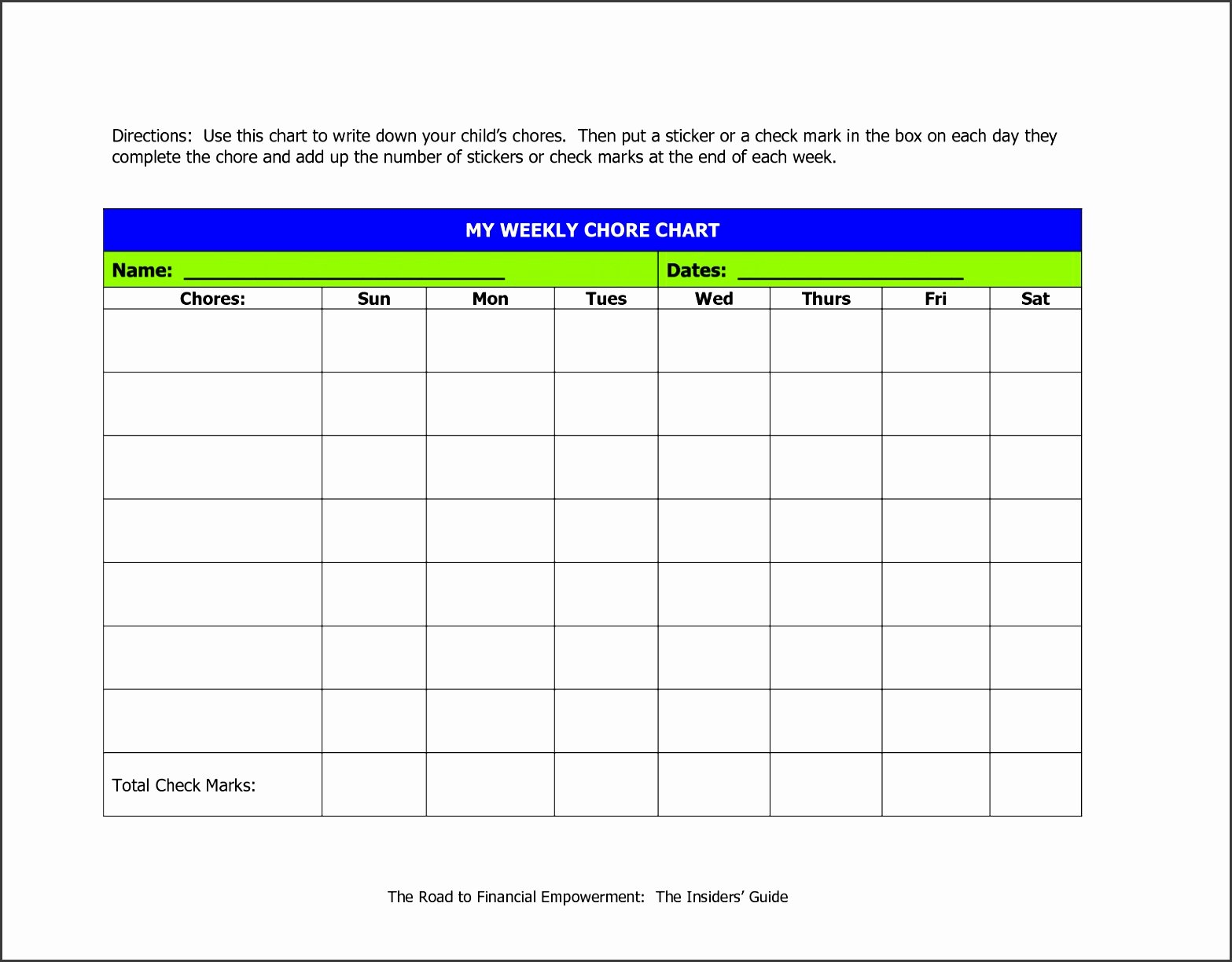 Chore Chart for Roommates Awesome 9 Responsibility Chart Template Sampletemplatess