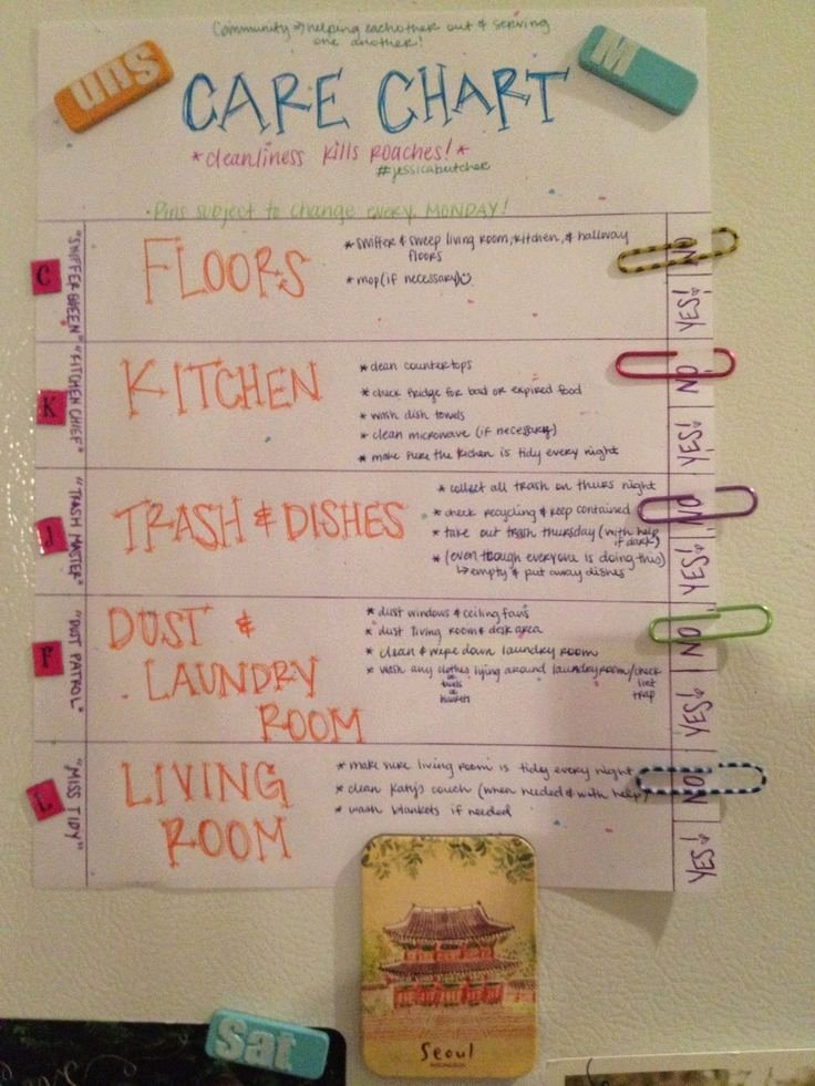 Chore Chart for Roommates Beautiful Pin by Morgan Dake On Home Stuff