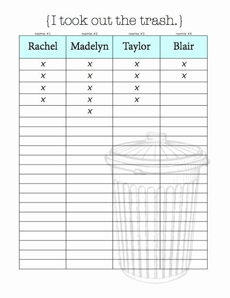 Chore Chart for Roommates Elegant Chore Charts & organizational Tips for Living with