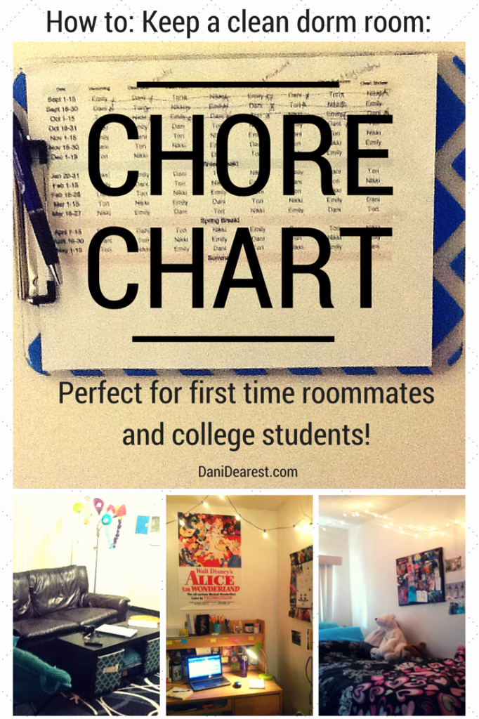 Chore Chart for Roommates Elegant Roommate Chore Chart College