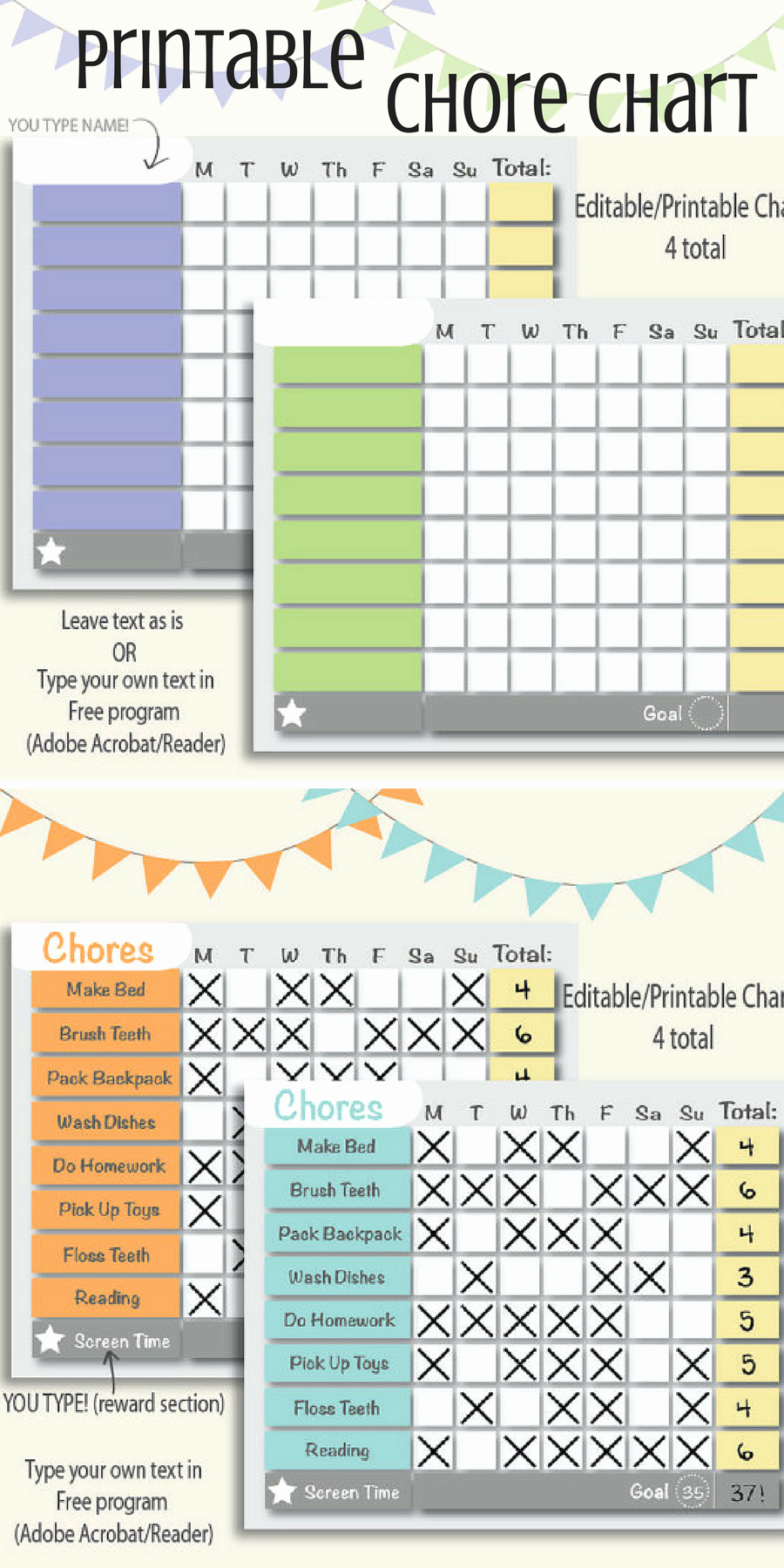 Chore Chart for Roommates Inspirational Very Handy Printable and Editable Chore Chart Great for