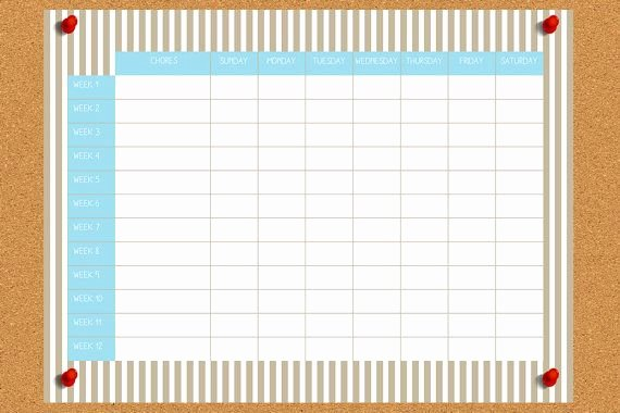 Chore Chart for Roommates Luxury Kid Roommate Chore Chart Digital On Etsy for