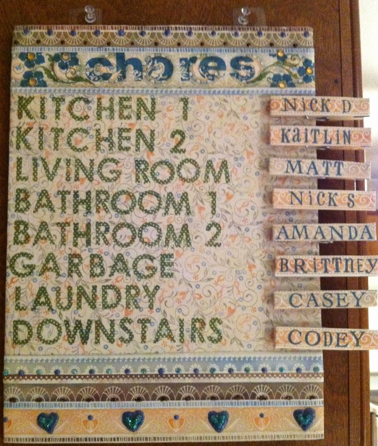 Chore Chart for Roommates Unique 24 Best Roommate Chore Charts Images On Pinterest