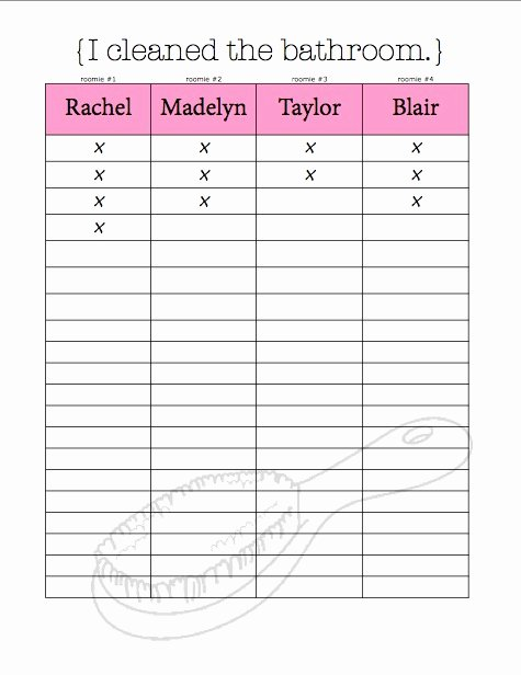 Chore Chart for Roommates Unique Chore Charts & organizational Tips for Living with