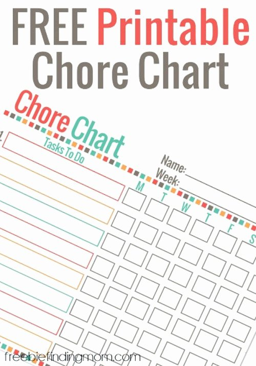 Chore Charts for Multiple Children Fresh 10 Free Printable Chore Charts for Kids